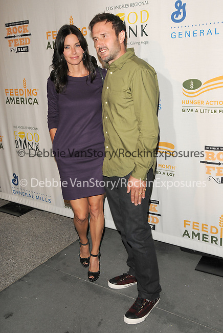 David Arquette & Courteney Cox at The Rock a Little ,Feed a lot benefit concert to support the L.A. Regional Food Bank & Feeding America held at Club Nokia in Los Angeles, California on September 29,2009                                                                   Copyright 2009 DVS / RockinExposures