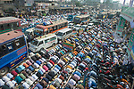 Millions of praying Muslims stop traffic as they take part in an annual religious festival.