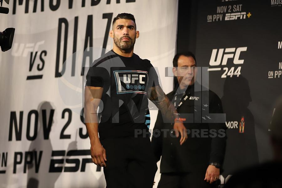 Nova York, EUA, 01.10.2019 - UFC-NOVA YORK - Lyman Good durante pesagem UFC 244no Madsion Square Garden na cidade de Nova York nesta sexta-feira, 01. A luta acontece no sábado 02. (Foto: Vanessa Carvalho/Brazil Photo Press/Folhapress)