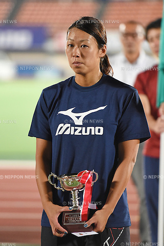 Risa Miyashita, <br /> JULY 25, 2015 - Athletics : <br /> All Star Night Track &amp; Field <br /> Closing Ceremony <br /> at Shonan BMW Stadium Hiratsuka, Kanagawa, Japan. <br /> (Photo by AFLO SPORT)