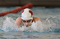 Springdale freshman Kevin Brumfield swims in the boys 200 yard individual medley, Thursday, February 13, 2020 during the 6A-West Conference swim meet at the Jones Center in Springdale. Check out nwaonline.com/200214Daily/ for today's photo gallery.<br /> (NWA Democrat-Gazette/Charlie Kaijo)