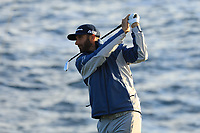 Dustin Johnson (USA) during the final round of the AT&T Pro-Am ,Pebble Beach Golf Links, Monterey, USA. 10/02/2019<br /> Picture: Golffile | Phil Inglis<br /> <br /> <br /> All photo usage must carry mandatory copyright credit (© Golffile | Phil Inglis)