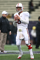 Oct 30, 20010:   Stanford quarterback #6 Josh Nunes warms up before the game against Washington.  Stanford defeated Washington 41-0 at Husky Stadium in Seattle, Washington.