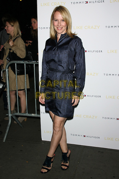 "Amy Ryan.The New York Premiere of ""Like Crazy"" at the Landmark Sunshine Cinema, New York, NY, USA..October 18th, 2011.full length blue dress black open toe sandals jacket.CAP/LNC/TOM.©TOM/LNC/Capital Pictures."