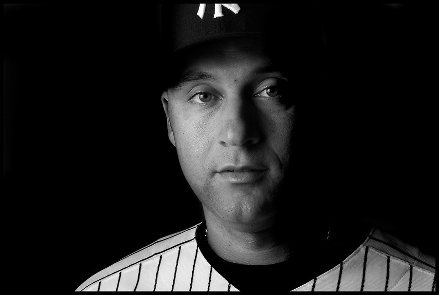 The New York Yankees' Derek Jeter photographed during the Yankee's Media Day at their spring training facility at George M. Steinbrenner Field in Tampa, Florida, February 25, 2010. REUTERS/Brian Blanco (UNITED STATES)