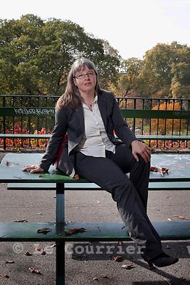Genève, le 28.10.2009.Michèle Kunzler, les verts..© Le Courrier / J.-P. Di Silvestro