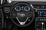 Car pictures of steering wheel view of a 2017 Toyota Corolla XSE-AT 4 Door Sedan Steering Wheel