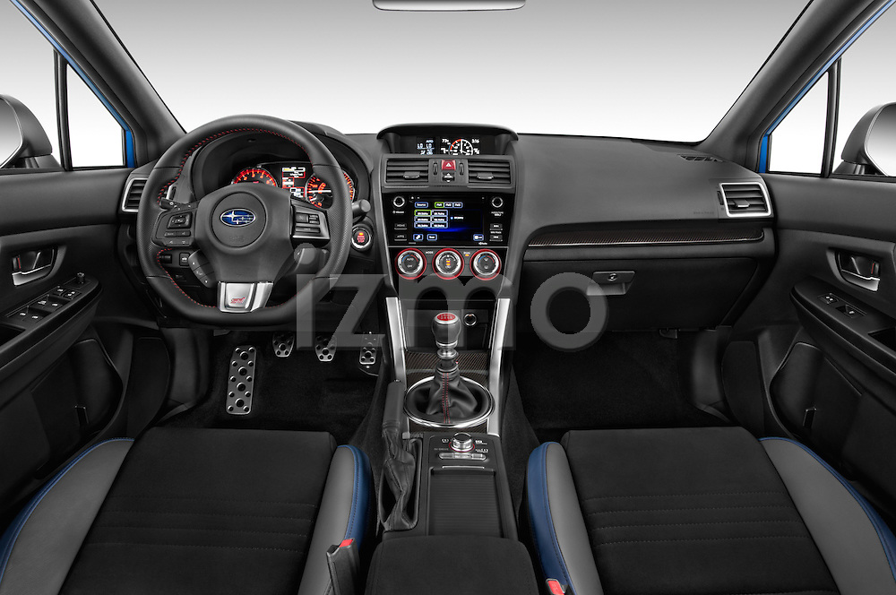 Stock photo of straight dashboard view of 2017 Subaru WRX STI - 4 Door Sedan Dashboard