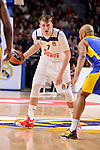 Real Madrid's Luka Doncic and Maccabi Fox's Devin Smith during Turkish Airlines Euroleague match between Real Madrid and Maccabi at Wizink Center in Madrid, Spain. January 13, 2017. (ALTERPHOTOS/BorjaB.Hojas)
