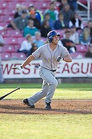 July 7, 2009: Tri-City Dust Devils' Bo Bowman at-bat during a Northwest League game against the Salem-Keizer Volcanoes at Volcanoes Stadium in Salem, Oregon.