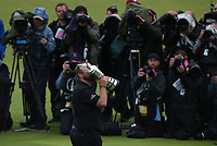 Camera call; Shane Lowry (IRL) is Champion Golfer of the Year after the Final Round of the 148th Open Championship, Royal Portrush Golf Club, Portrush, Antrim, Northern Ireland. 21/07/2019. Picture David Lloyd / Golffile.ie<br /> <br /> All photo usage must carry mandatory copyright credit (© Golffile | David Lloyd)