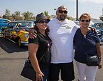 Monica, Anthony and Inez Saucedo during the Hot August Nights Pre-Kickoff Party at the Bonanza Casino in Reno, Nevada on Sunday, August 6, 2017.