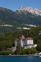 Europe/France/Rhône-Alpes/74/Haute-Savoie/Lac d'Annecy/Menthon-Saint-Bernard: le Palace de Menthon