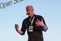 SAO PAULO, SP - 15.02.2019 - CAMPUS PARTY - O engenheiro da Nexus Cloud, Frank Karlitschek fala sobre o futuro dos dados durante a Campus Party nesta sexta-feira (15) no Expo Center Norte na zona norte de Sao Paulo.<br /> <br /> <br /> (Foto: Fabricio Bomjardim / Brazil Photo Press / Folhapress)