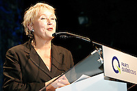 Quebec City, June 27 2007. Pauline Marois speaks to the crowd as she is crowned the new PQ leader during a rally at the Théatre du Capitole in Quebec City June 27, 2007.