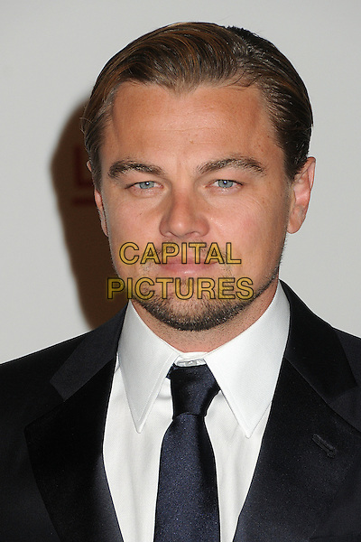 Leonardo DiCaprio.The Inaugural Art and Film Gala held at LACMA in Los Angeles, California, USA..November 5th, 2011.headshot portrait black white tie goatee stubble facial hair.CAP/ADM/BP.©Byron Purvis/AdMedia/Capital Pictures.