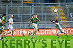 Donnchadh Walsh, Kerry in Action Against Matthew Donnelly, Tyrone in the All Ireland Semi Final at Croke Park on Sunday.