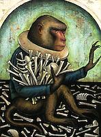 Rolled Canvas Digital Print of Artwork by Craig La Rotonda
