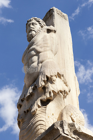 Statue in the Palace of the Giants, Ancient Agora of Athens, Athens, Greece <br /> CAP/MEL<br /> &copy;MEL/Capital Pictures /MediaPunch ***NORTH AND SOUTH AMERICA ONLY***