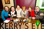 Patricia Sheehy, Maura Harris, Geraldine Sheehy, Maureen Guerin,  Breda O Regan and Kieran Moriarty Quiz Master at the Greyhound Bar Golf Society Charity Quiz in aid of Recovery Haven on Thursday