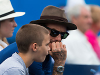 DAVID AND ROMEO BECKHAM<br /> <br /> TENNIS - AEGON CHAMPIONSHIPS - QUEEN'S CLUB - ATP - 500 - BARON'S COURT, LONDON, GB - 2017  <br /> <br /> <br /> &copy; TENNIS PHOTO NETWORK