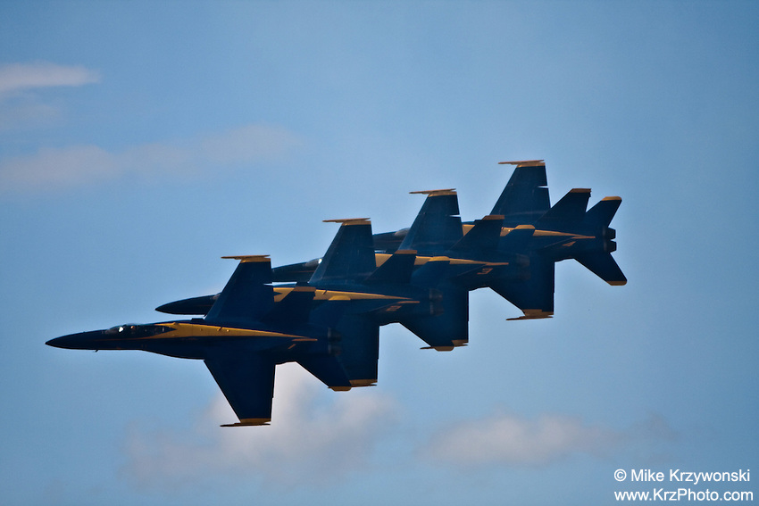 Blue Angels fighter jets performing at the air show at the Kaneohe Marine Base, Oahu, Hawaii