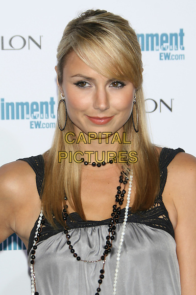 STACY KEIBLER .6th Annual Entertainment Weekly Pre-Emmy Awards Party.at the Beverly Hills Post Office, Beverly Hills, CA, USA, September 20th 2008..portrait headshot  grey gray black dress necklace .CAP/LNC/TOM.©LNC/Capital Pictures