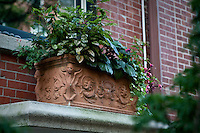 A Terracotta pot is pictured on a Brooklyn Heights building in the New York City borough of Brooklyn, NY, Monday August 1, 2011.