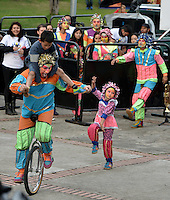 "BOGOTÁ-COLOMBIA-19-04-2014. Presentación de la obra ""Sueños Encantados"" de Fundación Teatral Chiminigagua, Colombia, realizado en el Parque Nacional de Bogotá y que forma parte de la programación del XIV Festival Iberoamericano de Teatro de Bogotá 2014./  Play ""Sueños Encantados"" of  the Theatrical Foundation Chiminigagua, Colombia, performed at Parque Nacional of Bogota as a part of  schedule of the XIV Ibero-American Theater Festival of Bogota 2014.  Photo: VizzorImage/ Gabriel Aponte /Staff"