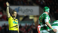 Referee Andrew Brace in action during todays match<br /> <br /> Photographer Ashley Crowden/CameraSport<br /> <br /> Guinness PRO12 Round 19 - Scarlets v Benetton Treviso - Saturday 8th April 2017 - Parc y Scarlets - Llanelli, Wales<br /> <br /> World Copyright &copy; 2017 CameraSport. All rights reserved. 43 Linden Ave. Countesthorpe. Leicester. England. LE8 5PG - Tel: +44 (0) 116 277 4147 - admin@camerasport.com - www.camerasport.com