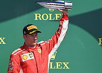 KIMI RÄIKKÖNEN (FIN) of Scuderia Ferrari on the podium during The Formula 1 2018 Rolex British Grand Prix at Silverstone Circuit, Northampton, England on 8 July 2018. Photo by Vince  Mignott.