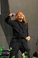 LONDON, ENGLAND - SEPTEMBER 9: Melanie Blatt of 'All Saints' performing at BBC Radio 2 Live in Hyde Park, on September 9, 2018 in London, England.<br /> CAP/MAR<br /> &copy;MAR/Capital Pictures