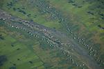 Aerials over a village in Omo Valley