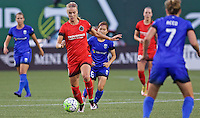 Portland, OR - Saturday July 30, 2016: Dagny Brynjarsdottir during a regular season National Women's Soccer League (NWSL) match between the Portland Thorns FC and Seattle Reign FC at Providence Park.