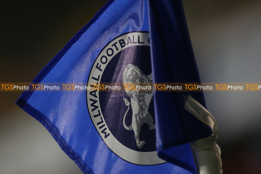 Millwall FC corner flag during Millwall vs Peterborough United, Sky Bet EFL League 1 Football at The Den on 28th February 2017