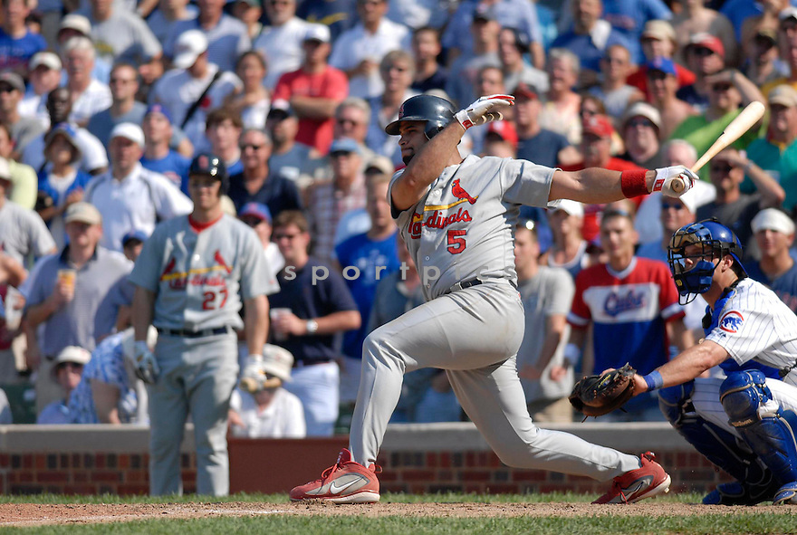 Albert Pujols, of the St. Louis Cardinals , in aciton against the Chicago Cubs on July 28, 2006in Chicago...Cubs win 6-5..Chris Bernachhi / SportPics