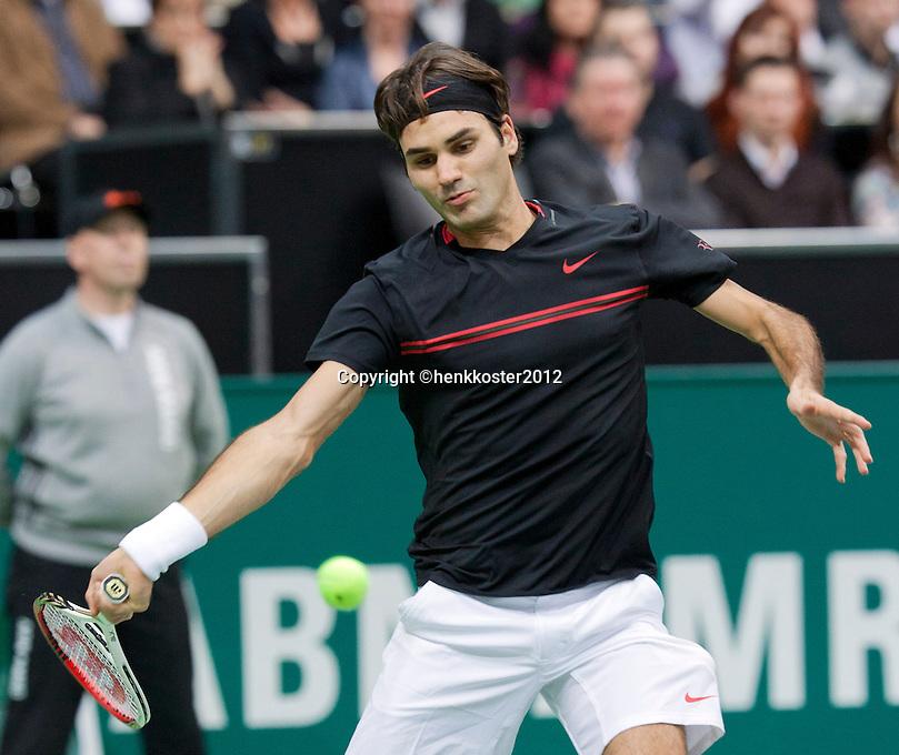 18-02-12, Netherlands,Tennis, Rotterdam, ABNAMRO WTT, Roger Federer