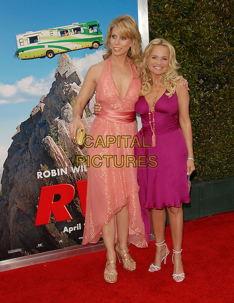 """CHERYL HINES & KRISTIN CHENOWETH.At Columbia Pictures' L.A. Film Premiere of """"RV"""" held at The Mann Village Theatre in Westwood , California, .USA, April 23rd 2006..full length pink fuchsia peach dress orange coral.Ref: DVS.www.capitalpictures.com.sales@capitalpictures.com.©Debbie VanStory/Capital Pictures"""