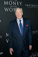 BEVERLY HILLS - DEC 18: Christopher Plummer at the premiere of Sony Pictures Entertainment's 'All The Money In The World' at the Samuel Goldwyn Theater on December 18, 2017 in Beverly Hills, CA