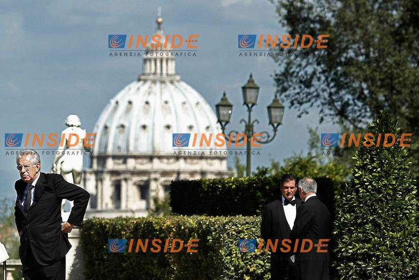 Mario Monti .Roma 21/09/2012 Villa Pamphilj - Incontro tra il Presidente del Consiglio Italiano, e il  il Primo Ministro Spagnolo..Foto Serena Cremaschi Insidefoto