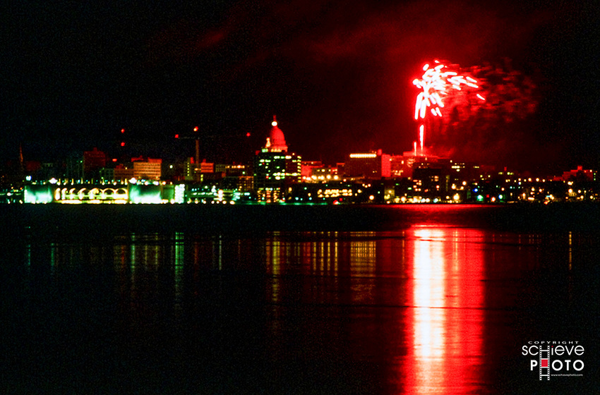New Years Eve 1999 celebration in Madison, Wisconsin.