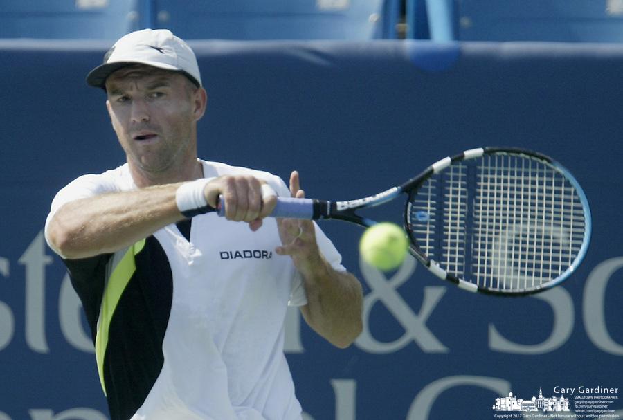 17 August 2006: Ivan Ljubicic, of Croatia, plays during the during the ATP Cincinnati Masters tennis tournament in Mason, Ohio.<br />
