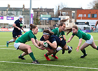 2nd February 2020; Energia Park, Dublin, Leinster, Ireland; International Womens Rugby, Six Nations, Ireland versus Scotland; Emma Wassell (Scotland) dives in to score a try