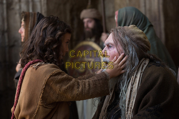 The Young Messiah (2016) <br /> Adam Greaves-Neal (left) stars as Jesus and David Burke (right) stars as The Blind Rabbi <br /> *Filmstill - Editorial Use Only*<br /> CAP/FB<br /> Image supplied by Capital Pictures