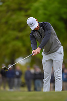 Lucas Bjerregaard (DEN) reacts to barely missing his birdie putt on 1 during day 5 of the WGC Dell Match Play, at the Austin Country Club, Austin, Texas, USA. 3/31/2019.<br /> Picture: Golffile | Ken Murray<br /> <br /> <br /> All photo usage must carry mandatory copyright credit (&copy; Golffile | Ken Murray)