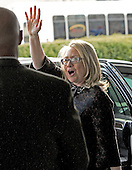 United States Secretary of State Hillary Rodham Clinton waves as she departs the State Department on her last day on the job in Washington, D.C. on Friday, February 1, 2013..Credit: Ron Sachs / CNP.(RESTRICTION: NO New York or New Jersey Newspapers or newspapers within a 75 mile radius of New York City)