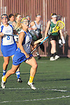 Santa Barbara, CA 02/18/12 - Megan Dawe (UCSB #7) in action during the UCSB-Washington matchup at the 2012 Santa Barbara Shootout.  UCSB defeated Washington