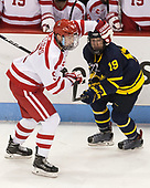 Kieffer Bellows (BU - 9), Michael Babcock (Merrimack - 19) - The visiting Merrimack College Warriors defeated the Boston University Terriers 4-1 to complete a regular season sweep on Friday, January 27, 2017, at Agganis Arena in Boston, Massachusetts.The visiting Merrimack College Warriors defeated the Boston University Terriers 4-1 to complete a regular season sweep on Friday, January 27, 2017, at Agganis Arena in Boston, Massachusetts.