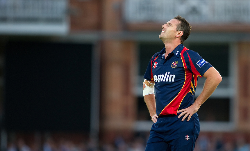 Essex Eagles' Shaun Tait at Lords<br /> <br />  (Photo by Ashley Western/CameraSport) <br /> County Cricket - Friends Life t20 2013 - Middlesex v Essex - Thursday 04th July 2013 - Lord's, London <br /> <br />  &copy; CameraSport - 43 Linden Ave. Countesthorpe. Leicester. England. LE8 5PG - Tel: +44 (0) 116 277 4147 - admin@camerasport.com - www.camerasport.com