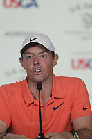 Rory McIlroy (NIR) press conference during Wednesday's Practice Day of the 118th U.S. Open Championship 2018, held at Shinnecock Hills Club, Southampton, New Jersey, USA. 13th June 2018.<br /> Picture: Eoin Clarke | Golffile<br /> <br /> <br /> All photos usage must carry mandatory copyright credit (&copy; Golffile | Eoin Clarke)